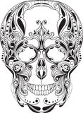 Human skull pattern. Ed, vector art Royalty Free Stock Image
