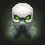 Human skull with Respirator mask. Royalty Free Stock Photo