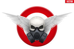 Human skull with Respirator mask. Vector Stock Images