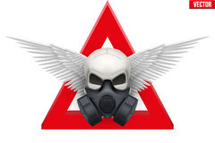 Human skull with Respirator mask. Vector Royalty Free Stock Photography