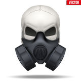 Human skull with Respirator mask. Vector Stock Image