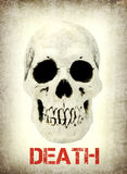 Human skull with sample text Death Stock Photography