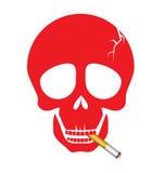 A human skull smoking a cigarette Royalty Free Stock Image