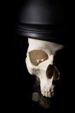 Human skull in soldier helmet Stock Photos