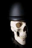 Human skull in soldier helmet Stock Images