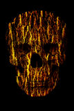 Human Skull with Special effect Royalty Free Stock Photos