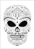 Human skull. In style Zentangle Stock Image