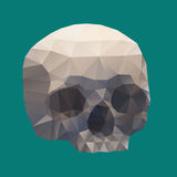 Human Skull in a Triangular Style Stock Image