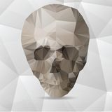 Human Skull in a Triangular Style Stock Images