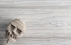 Human skull from wooden puzzles stock image