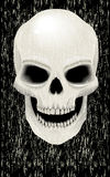 Human skull zombie Royalty Free Stock Images