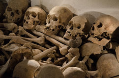 Human skulls - martyrdom Royalty Free Stock Photos