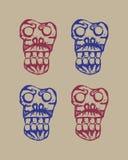 Human skulls sketch Royalty Free Stock Photo