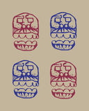 Human skulls sketch Royalty Free Stock Image