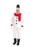 Human snowman royalty free stock photo