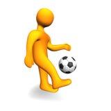 Human Soccer Ball 3D Stock Image