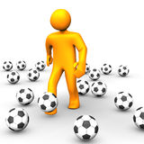 Human Soccer Ball 3D Royalty Free Stock Image