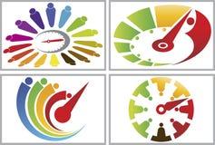 Human speed life collection logos stock illustration