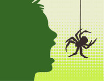Human & spider Royalty Free Stock Images