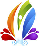 Human splash logo. Illustration art of a human splash logo with isolated background Royalty Free Stock Photos