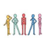 Human Standing vector illustration