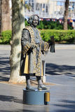 Human statue dressed as Christopher Columbus royalty free stock image