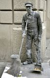Human statue in Italy royalty free stock images