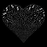 Human Steps Fireworks Heart Stock Photo