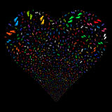 Human Steps Fireworks Heart Stock Photos