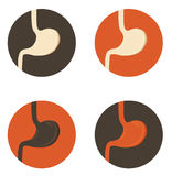 Human stomach symbol set Royalty Free Stock Photos