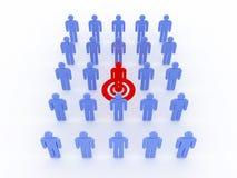 Human target. 3D image Stock Photo