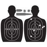 Human target and bullet holes Stock Image