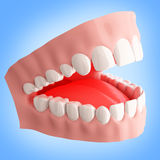 Human teeth 3d illustration Royalty Free Stock Images