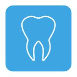 Human teeth icons set isolated for dental medicine clinic. Linear dentist logo. Vector Royalty Free Stock Images