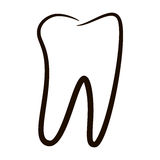 Human teeth icons set isolated on white background for dental medicine clinic. Linear dentist logo. Stock Photo