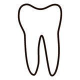 Human teeth icons set isolated on white background for dental medicine clinic. Linear dentist logo. Vector Stock Photo