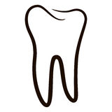 Human teeth icons set isolated on white background for dental medicine clinic. Linear dentist logo. Vector Royalty Free Stock Photo