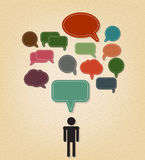 Human and text balloon Vector speech bubble icons Stock Photo