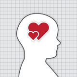 Human Thinking about Love Concept, Vector Work Royalty Free Stock Image