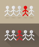 Human together concept. Vector illustration Stock Photos