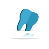 Human tooth with banner for text. Stock Photography