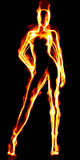 Human torch. Royalty Free Stock Photography