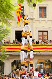 Human tower Royalty Free Stock Photography