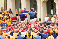 Human tower Stock Photos