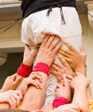 Human tower Stock Images
