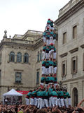 Human tower in Barcelona Stock Images