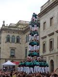 Human Tower In Barcelona