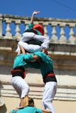 Human towers Castellers Stock Photography