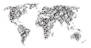 Human Tracks On The World royalty free illustration