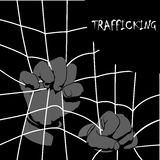 Human Trafficking Awareness Day, four type illustration of human trafficking in . Violence of humanity, and social comunity, crime watch in dark place Stock Image